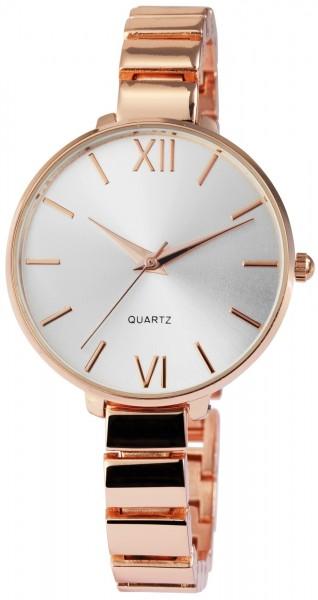 Excellanc Damen-Uhr Metallarmband Clipverschluss Elegant Analog Quarz 1800064