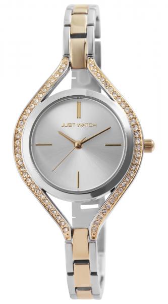 Just Watch Damen-Uhr Edelstahl Armband Strass JW298 Analog Quarz JW10147