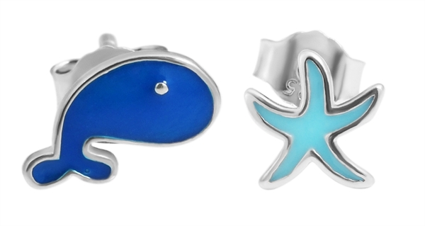 Giulia Luna - Ohrstecker 925er Sterling Silber Wal Seestern Ohrringe GL5200117