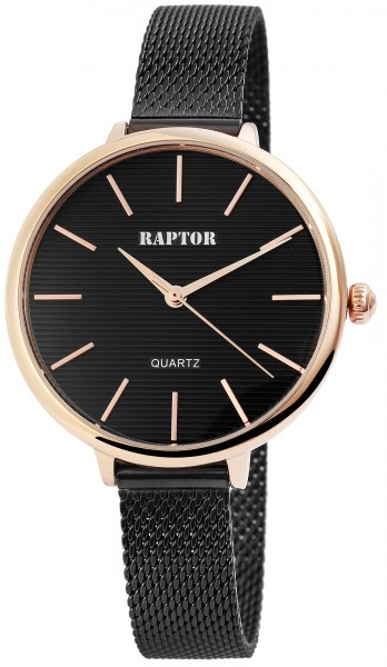 Raptor Damen-Uhr Milanaise Armband Edelstahl Hakenverschluss Analog Quarz RA10031