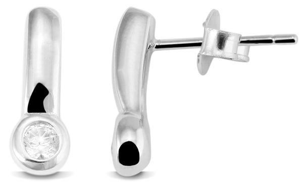 Giulia Luna Damen – Ohrstecker 925er Silber rhodiniert Ohrringe Strass GL5200050