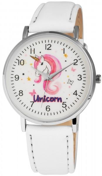 Excellanc Damenuhr mit Lederimitationsarmband Einhorn Unicorn – 1900083-001