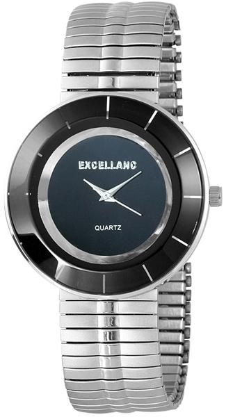 Excellanc Analog Damenuhr, Metall, Ø 40 mm, Silber Schwarz - 172421000039