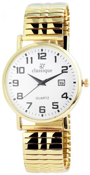 Classique Herren-Armbanduhr Metallarmband Analog Quarz 2700018