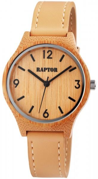 Raptor Damen-Uhr Holz Armbanduhr Echt Leder Analog Quarz RA20048