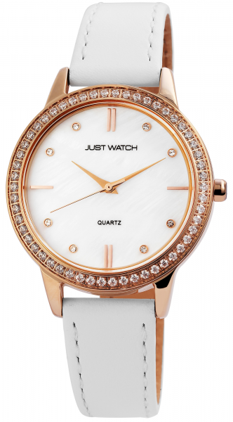 Just Watch Damen-Uhr Echt Leder Strass JW192 Analog Quarz JW10035