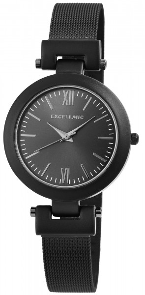 Excellanc Damen-Uhr Milanaiseband Edelstahl Hakenverschluss Anlaog Quarz 1800155