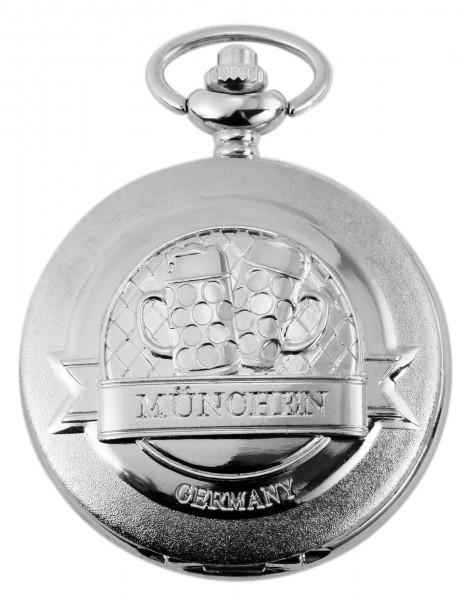 Excellanc Herren-Taschenuhr Metall München Drockknopfverschluss 4000028