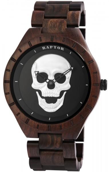 Raptor Herren-Uhr Totenkopf Leuchtzeiger Analog Quarz RA20300