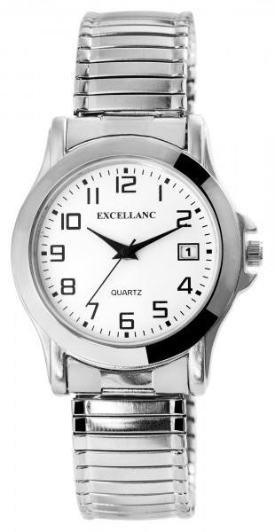 Excellanc Herren-Uhr Metallzugband Datum Klassisch Analog Quarz 2700022
