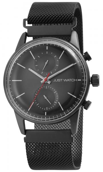 Just Watch Herren-Uhr Edelstahl Milanaiseband Multifunktion Magnetverschluss JW20140