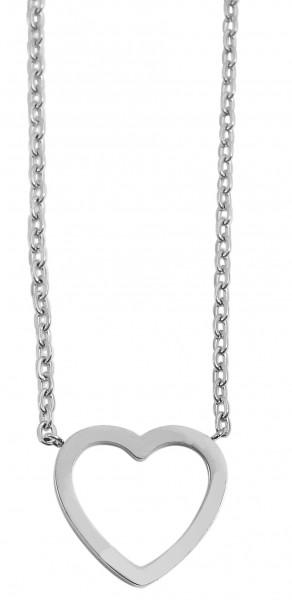 Akzent Damen - Halskette Herz Anhänger Edelstahl Ankerkette 43+5cm 5010262