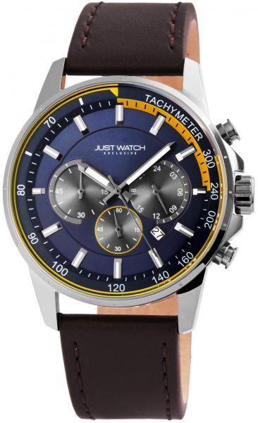 Just Watch Exclusive Herren-Uhr Echt Leder Leuchtzeiger Datum Stoppuhr JW20075