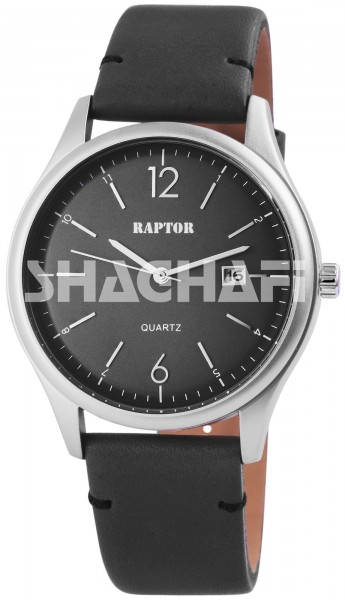 Raptor Herren-Uhr Oberseite Echtlederarmband Datumsanzeige Quarzwerk RA20073