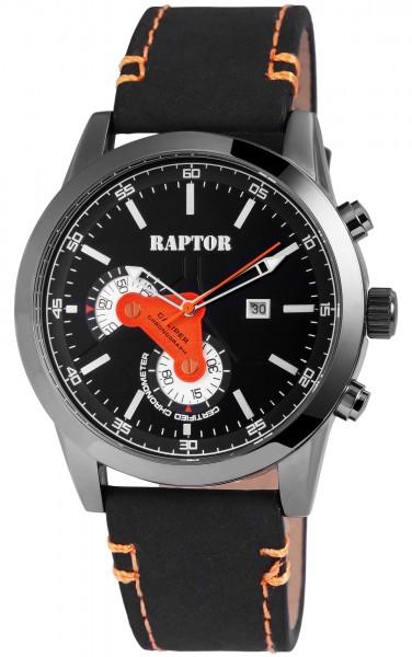 Raptor Herren-Uhr Echtleder Armband Mit Datumsanzeige Analog Quarz RA20111