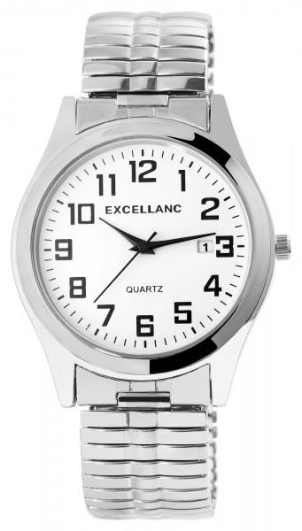 Excellanc Herren-Uhr Metallzugband Datum Klassisch Analog Quarz 2700021