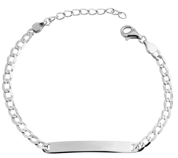 Echt Silber Armband, 17+3cm, 925/ rhodiniert, 2,88g