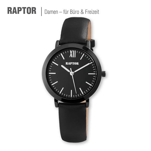 Raptor Damen-Uhr Echt Leder Armband Klassisch rund Eleganz Analog Quarz RA10009