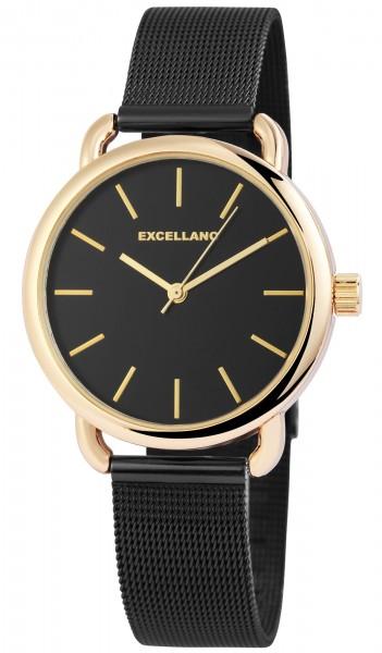 Excellanc Damen – Uhr Meshband Edelstahl Milanaise Armbanduhr Analog Quarz
