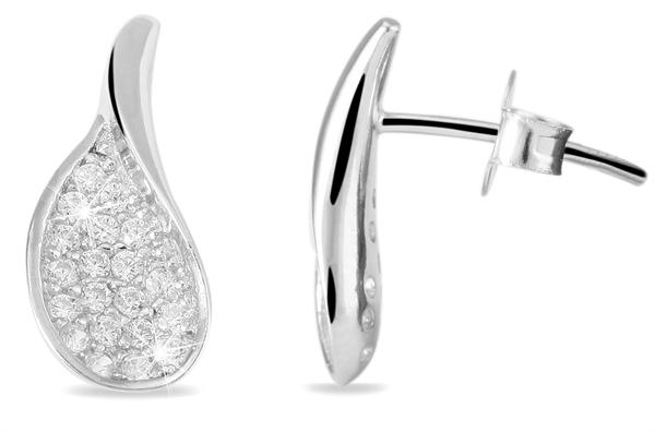 Giulia Luna Damen – Ohrringe 925er Silber rhodiniert Ohrstecker Strass GL5200052