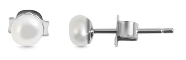 Giulia Luna - Ohrstecker 925er Sterling Silber Ohrringe Süßwasserperle GL5200120