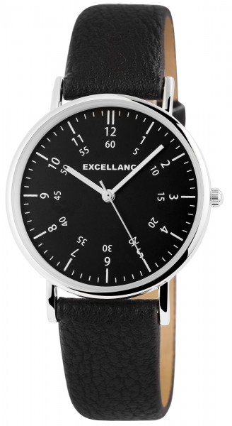 Excellanc Damen-Uhr Lederimitat Dornschließe Rund Analog Quarz 1900211