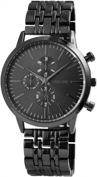 Excellanc Herren Uhr Gliederarmband Metall Faltschließe Analog Quarz 2800036