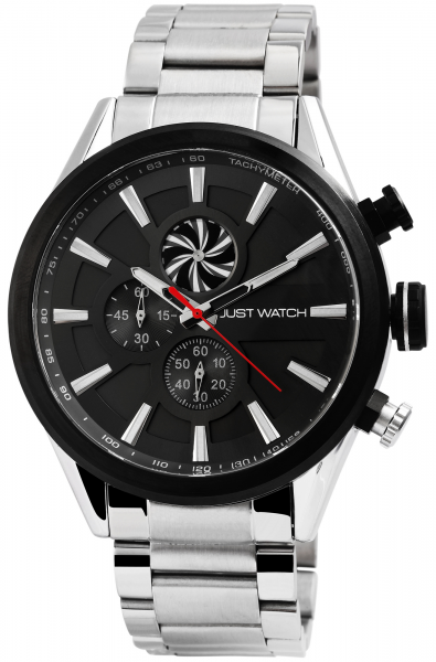 Just Watch Herren-Uhr JW160 Edelstahl Chronograph Analog Quarz JW20096