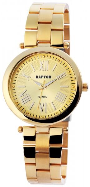 Raptor Damen-Uhr Edelstahl Armband Analog Quarz Edelstahl Faltschließe RA10070