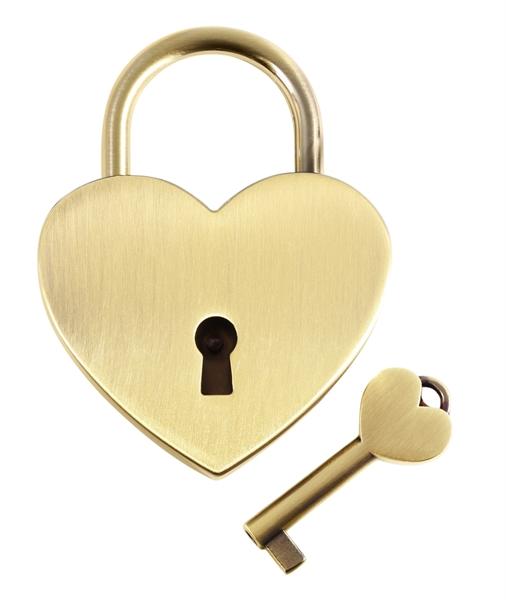 Excellanc Liebesschloss Herzschloss Schlüssel Gravur Jahrestag Valentinstag 7600026