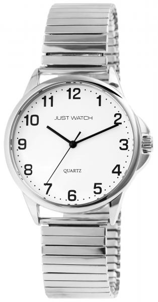 Just Watch Herren-Uhr Edelstahl Zugband Elegant Klassisch Analog Quarz JW20161