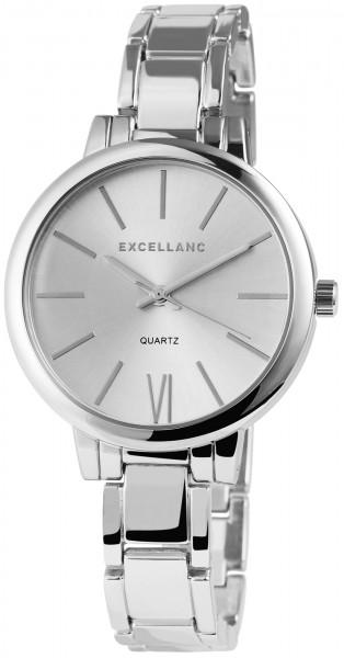 Excellanc Damen-Uhr Metallarmband Clipverschluss Analog Armbanduhr Quarz 1800038