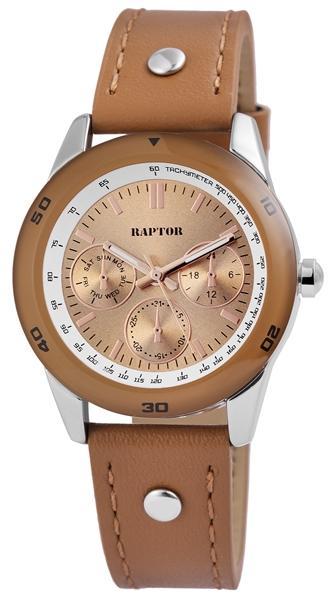 Raptor Damen-Uhr Armbandoberseite Echtleder Analog Quarz RA10154-002