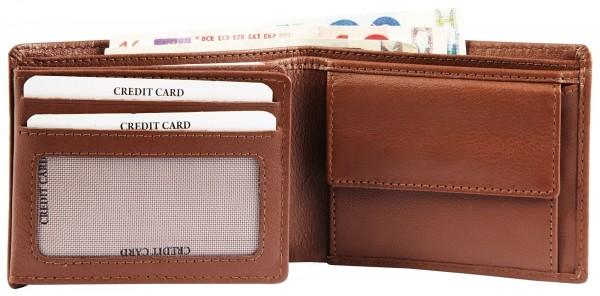 Excellanc Herren-Geldbörse Echt Leder 11 x 8,5 cm Querformat RFID 3000368