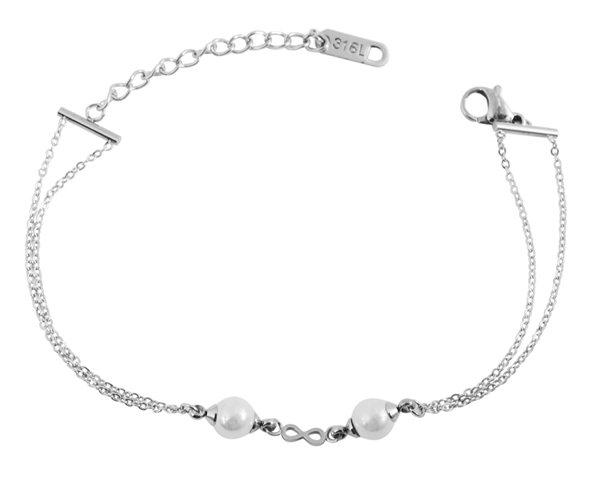 Akzent Damen - Armband Edelstahl Infinity Motiv Länge 16 + 4 cm Stärke 2 mm 5030442