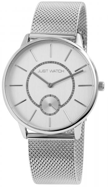 Just Watch Herren-Uhr Meshband Edelstahl Hakenverschluss Analog Quarz JW20127