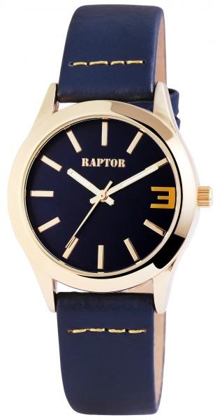 Raptor Damen-Uhr Armband Echt Leder Elegant Schlicht Analog Quarz RA10088