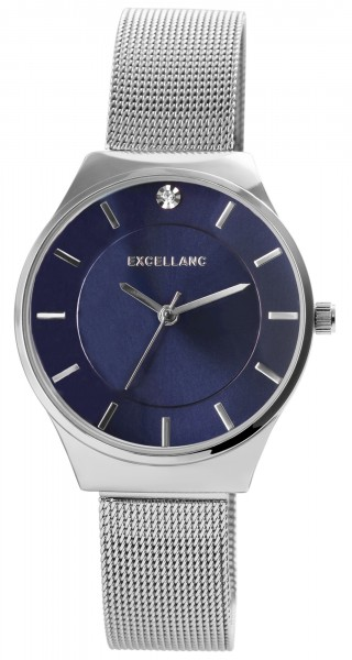Excellanc Damen-Uhr Milanaisearmband Edelstahl Hakenverschluss Quarz Analog 1300027