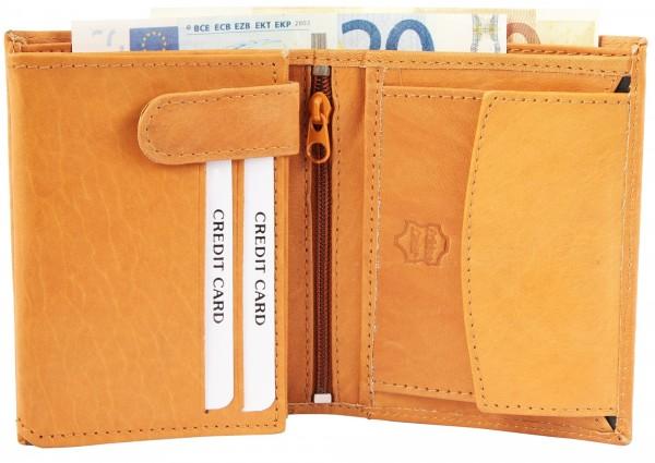 Excellanc Herren-Geldbörse Echt Leder 9 x12 cm Hochformat 3000196