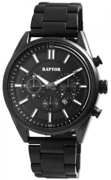 Raptor Herren-Uhr Armband Edelstahl Leuchtzeiger Datum Analog Quarz RA20253