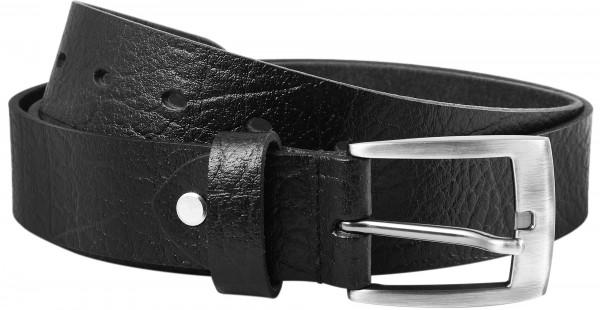 Leonardo Verrelli Herren - Gürtel aus Leder Schwarz kürzbar 120 cm 3100019