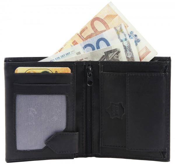 Excellanc Herren-Geldbörse Echt Leder Hochformat 10,5 x 8,5 x 2 cm 3000126