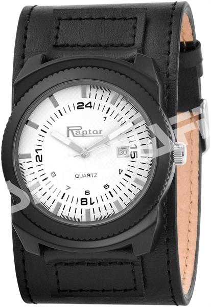Raptor Herren-Uhr Armband Echtleder Datumsanzeige Analog Quarz RA20146