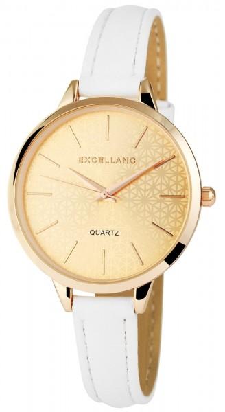 Excellanc Damen – Uhr Lederimitat Slim Armbanduhr Analog Quarz 1900051