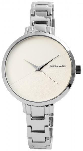 Excellanc Damen-Uhr Metallarmband Clipverschluss Analog Quarz 1800136