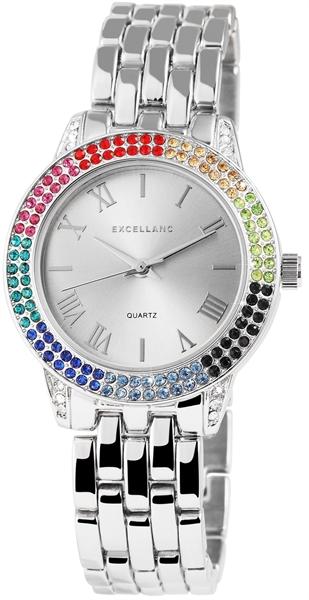 Excellanc Damen-Uhr Gliederarmband Metall Clipverscluss Analog Quarz 1800037
