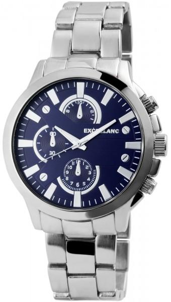 Excellanc Herren-Uhr Gliederarmband Metall Leuchtzeiger Analog Quarz 2800041