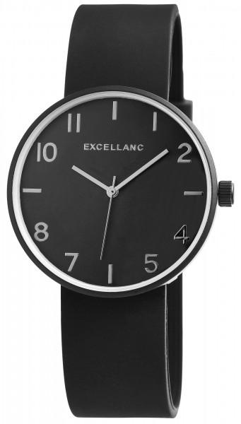 Excellanc Herren-Uhr Silikon Dornschließe Eleganz Sport Analog Quarz 250000