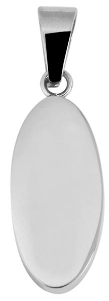 Akzent Gravur-Anhänger Edelstahl oval 5020201