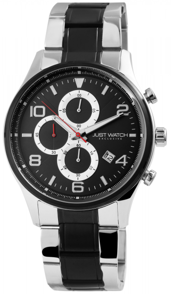 Just Watch Exclusive Herren-Uhr Edelstahl Chronograph JWE002 Datum Quarz JW20079